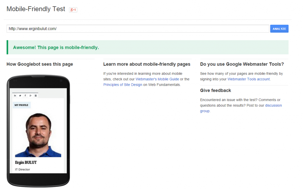 Learn more about mobile-friendly pages